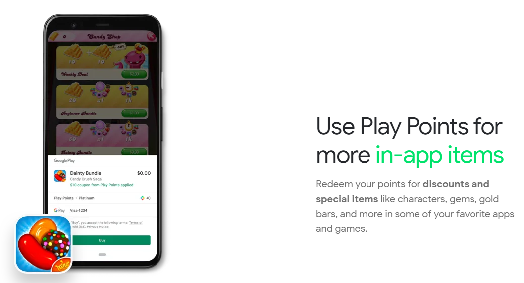 google play point acquisti in app
