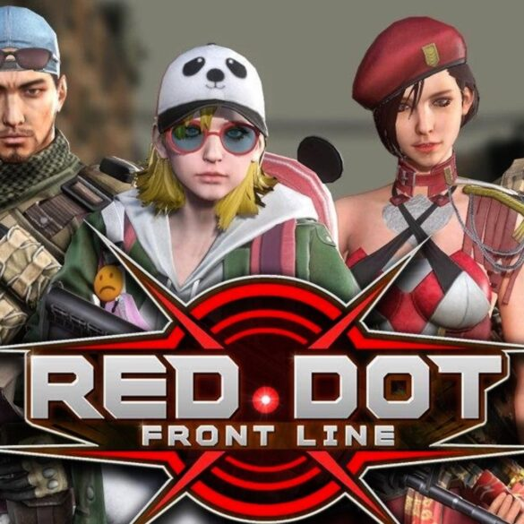 red dot: front line