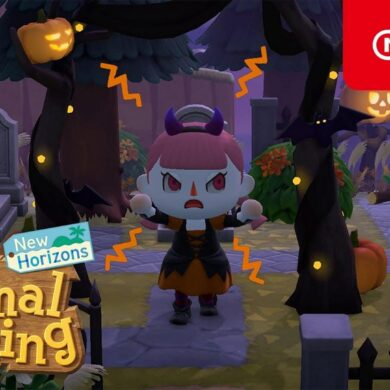 animal crossing new horizons aggiornamento halloween nintendo switch