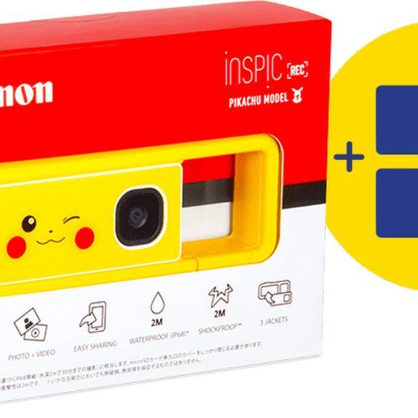 pokémon pikachu fotocamera compatta canon
