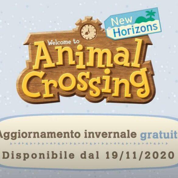 animal crossing aggiornamento invernale novembre