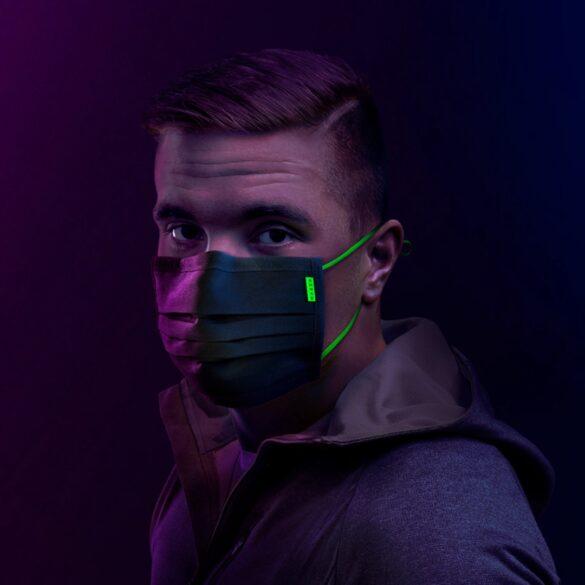 razer mascherina elastici fluorescenti